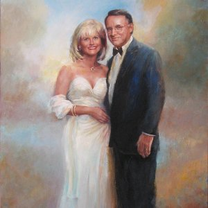 portrait painting of a couple
