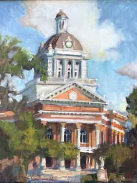 painting Morgan County Courthouse